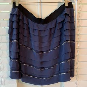 Short navy skirt